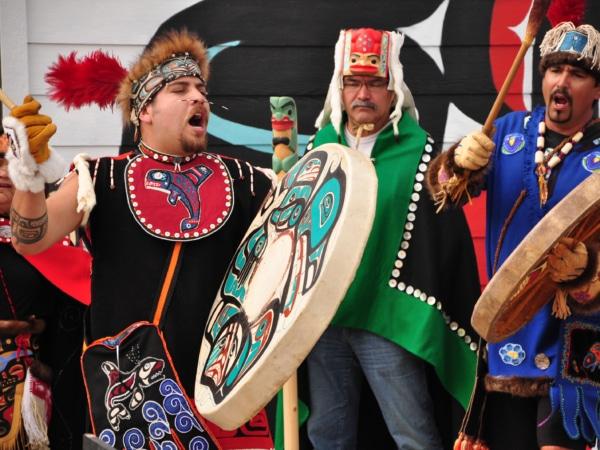 Indianer Zeremonie mit Trommel