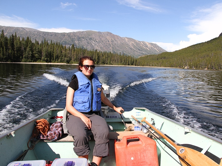 Bootstour auf den Seen im Yukon