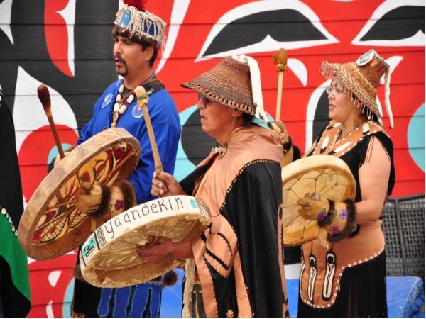 Einweihungszeremonie der Carcross/Tagish Indianer