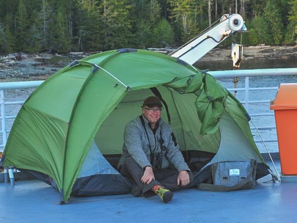 Zelten auf der Alaska Fähre
