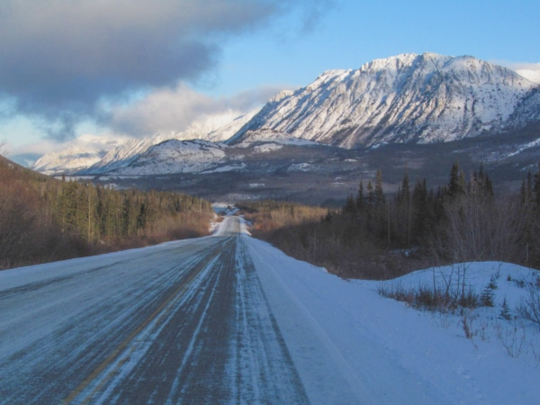 Winterlandschaft im Yukon