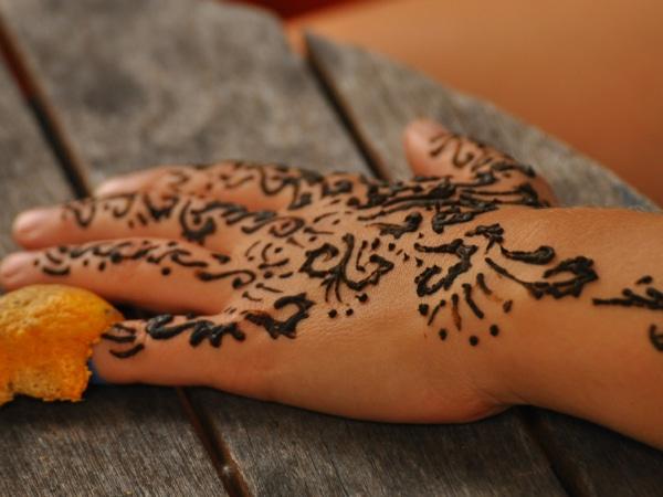 Henna Handbemalung
