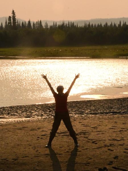 Jubeln im Yukon