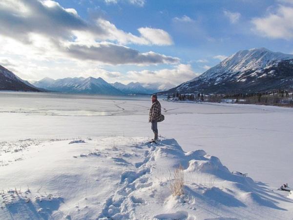 Ralph Müller im verschneiten Yukon