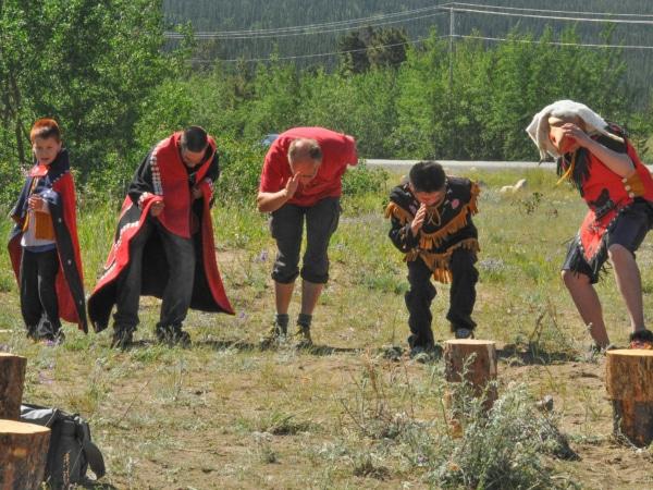 Zeremonie Tanz mit Native People