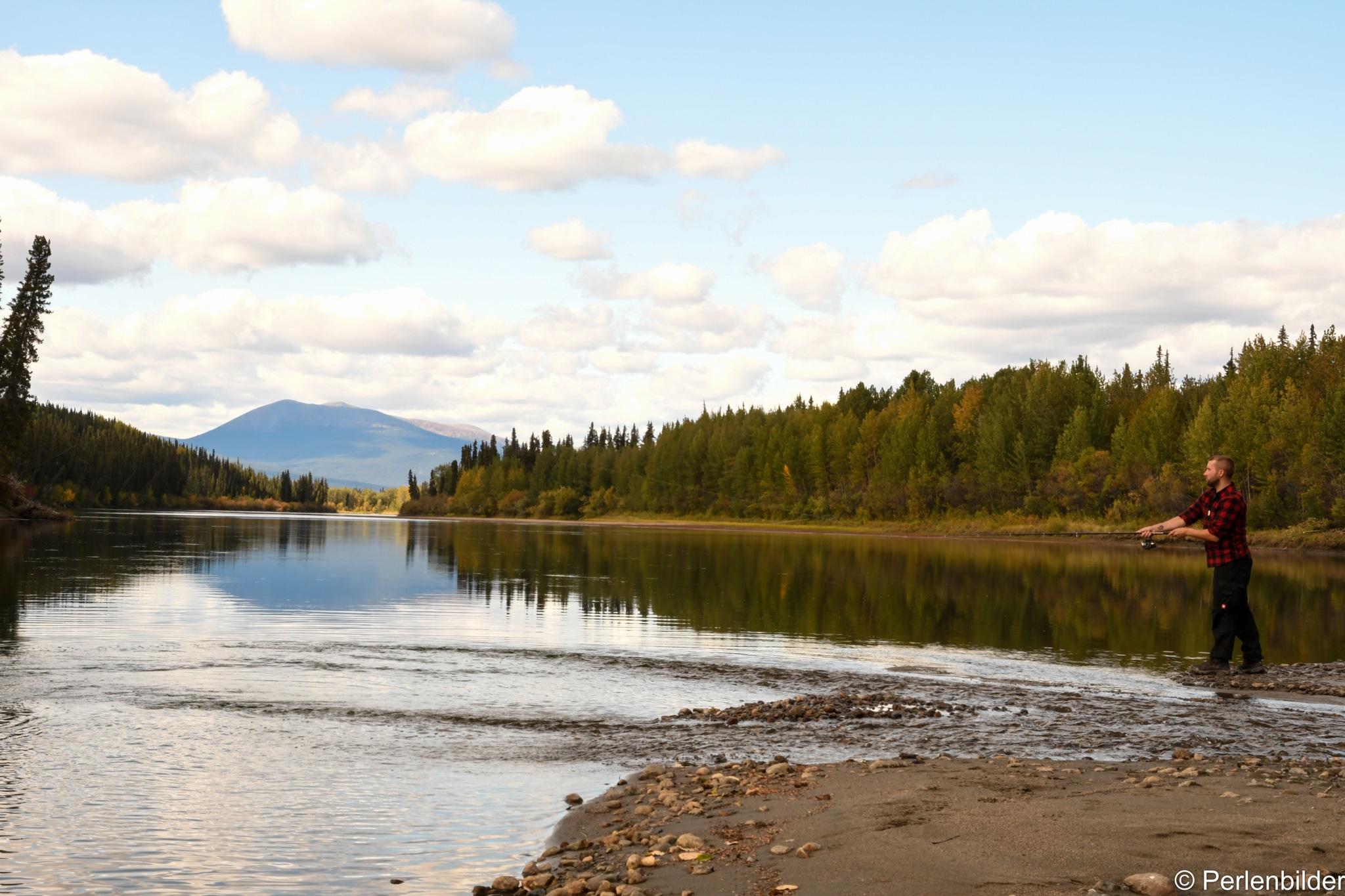 Landschaft mit Angler