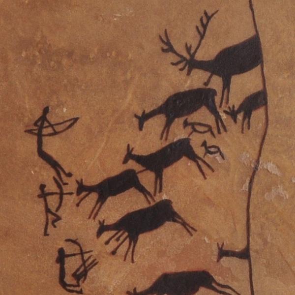 Höhlenmalerei Hirschjagd