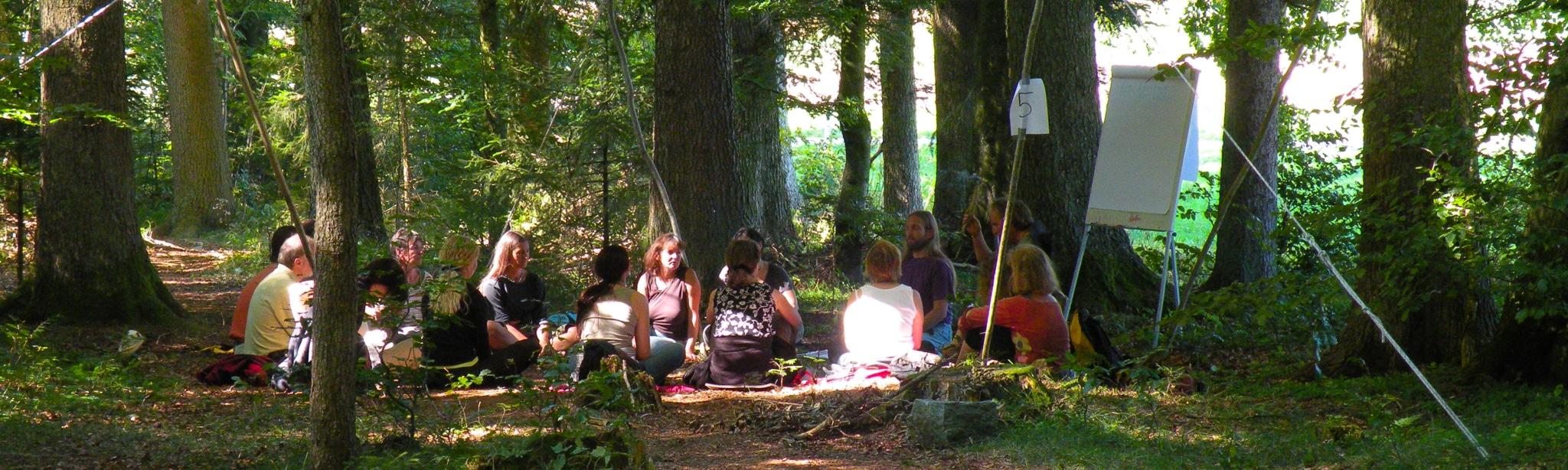 Unterricht im Wald