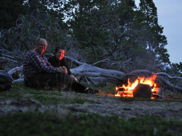 Lagerfeuer im Yukon