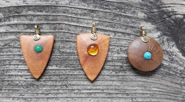 Schmuck aus Holz Steineiche und Korkeiche